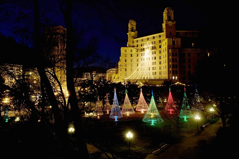 Arlington Hotel, Hot Springs, Holiday Lights, Christmas Lights
