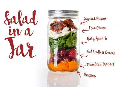 Taste of Tuesday: Izzy's Harvest Spinach Salad (in a Jar)
