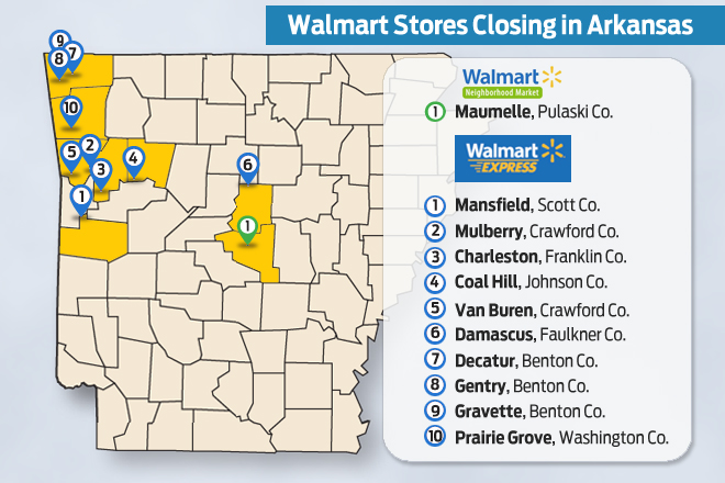 Prairie Grove 39 S 14 000 SF Walmart Express Was One Of The 154 Stores