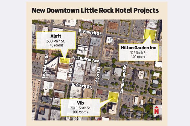 At The Hilton Garden Inn Site Are Chet Patel, Pinnacle Hotel Group  President; Shawn Govind, Director Of Development; Roshan Patel, Development  Coordinator; ...