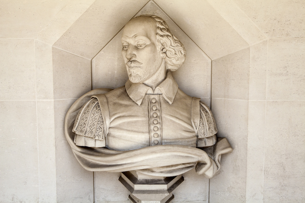 William Shakespeare sculpture at Guildhall Art Gallery in London