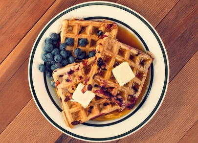 After a Berry Picking Adventure, Make This Family Feast of Blueberry Waffles