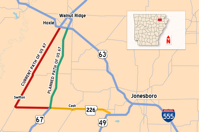 Work to Expand Arkansas 226, US 67 Speeds Toward August Finish