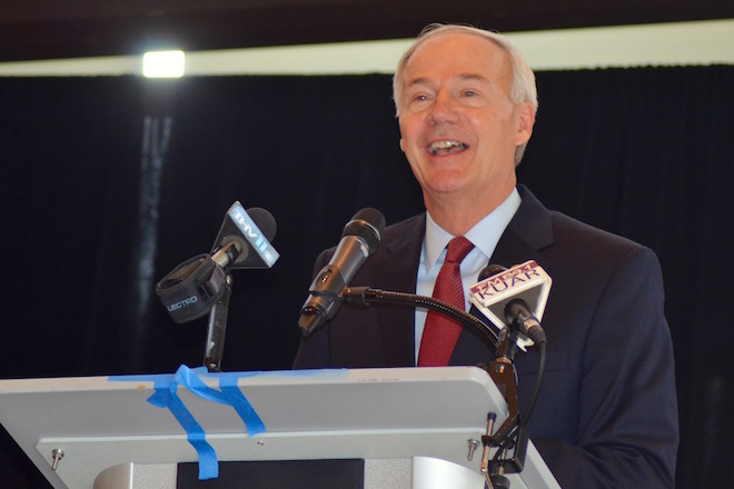 At Rotary, Asa Hutchinson Talks Higher Education, Private Sector's Role in Economy