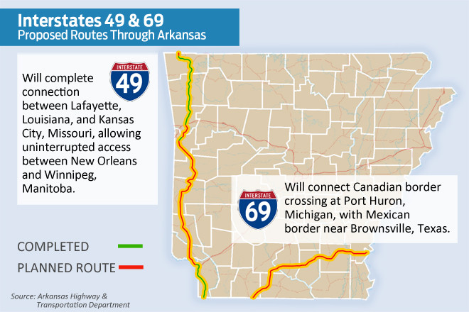 Interstate 69 Arkansas Map.Canal Growth Could Tighten Traffic On Arkansas Interstates Craig