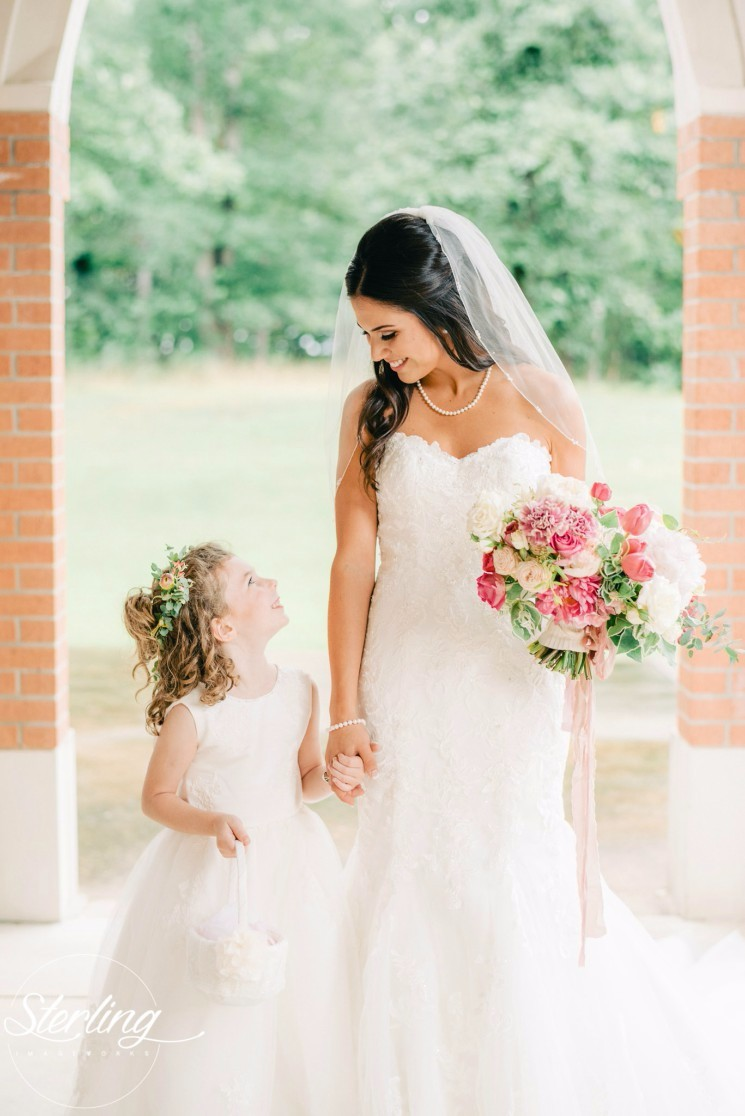 Meet our 2016 cutest wedding littles contest winners 3 in third place we have adorable alli with beautiful bride maggie teed ombrellifo Image collections