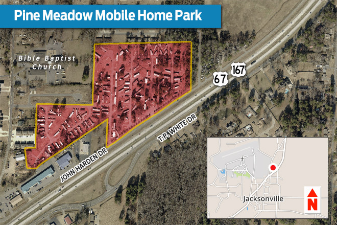 Jacksonville mobile home park draws 2 6m sale real deals arkansas business news - The mobile home in the meadow ...