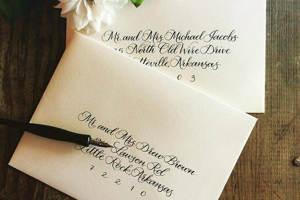 Arkansas Weddings From A To Z C Is For Calligraphy