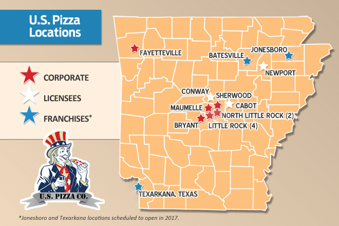 U.S. Pizza Co. Welcomes 2017 With Growth | Arkansas Business News ...