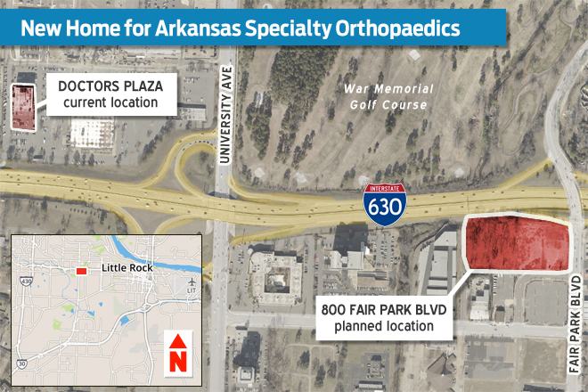 Arkansas Specialty Orthopaedics Looking at New Home in Midtown Little Rock