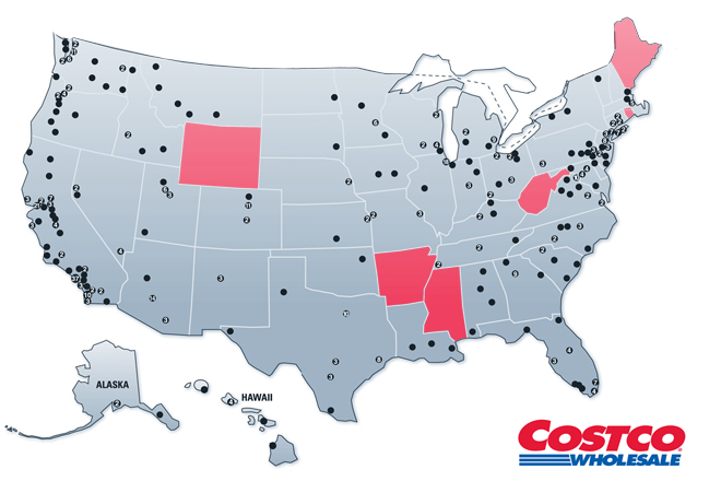Costco Hasnt Hit Pay Dirt Yet In Little Rock Arkansas Business - Costco us locations map