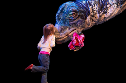 Realistic Dinosaur Puppet Show Stops in Conway