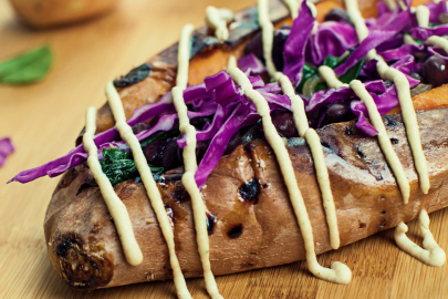 Recipe: Stuffed Sweet Potatoes from Chef Maria Larios of Viva Vegan