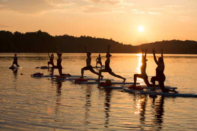 SUP Yoga Takes Your Flow to the River