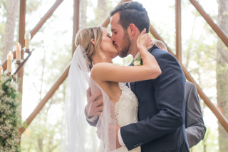 Real Hot Springs Wedding: Brittney Rand & Cole Carson of Los Angeles