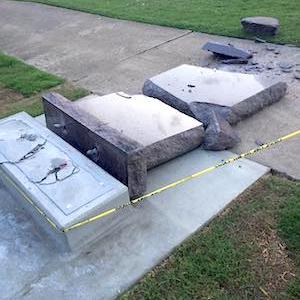 Update: Driver Destroys Ten Commandments Monument at Arkansas Capitol