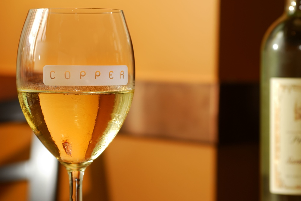 white wine from Copper Grill