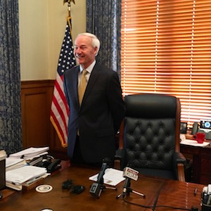 Arkansas Governor Reports $2M in Bank for Re-Election Bid