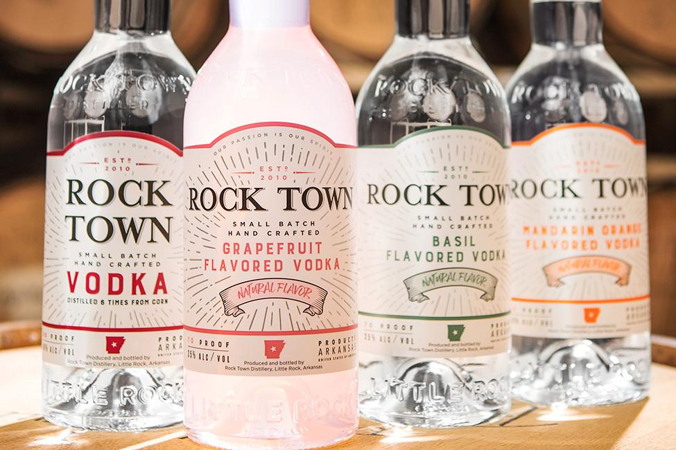 Rock Town Vodka Bottles