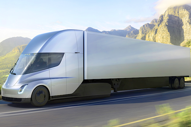 Tesla Aims to Electrify Big Rigs; Wal-Mart, J.B. Hunt Want In