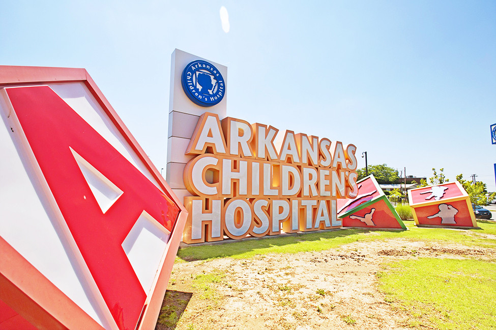 LRF DEC17 Arkansas Children's Hospital front entrance sign