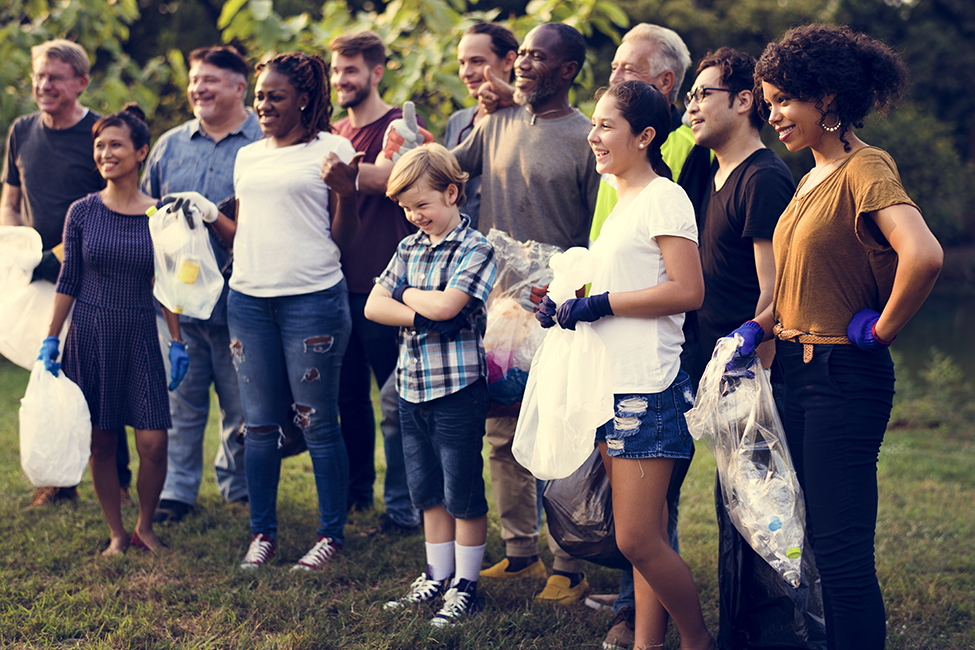 diverse neighborhood group people clean up shutterstock