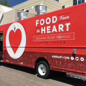 Heart Hospital Shows Drive with Food Truck