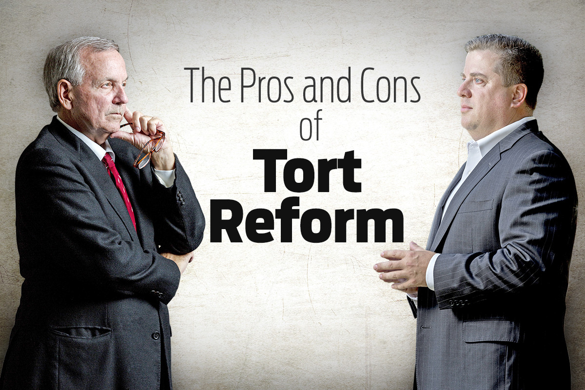 tort reform pros and cons There are several tort reform pros and cons to consider list of the pros of tort reform 1 it limits the punitive costs of civil liability the justice system is about making people whole it should not be about making people become rich because of a mistake or unexpected circumstance.
