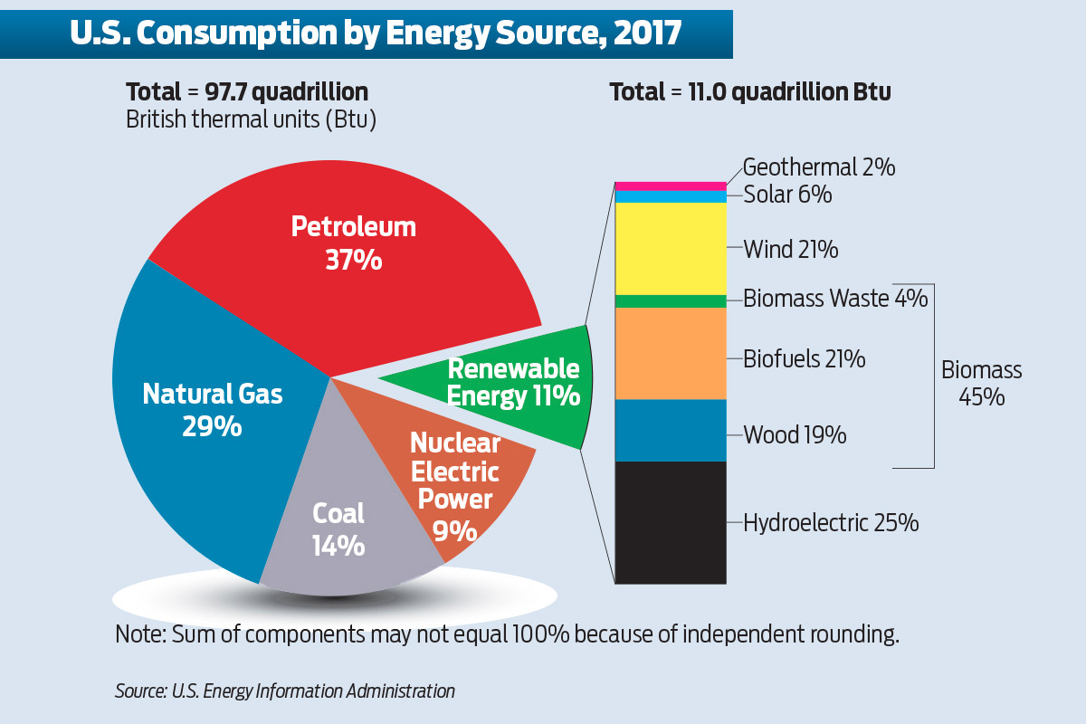 Use Of Renewable Energy Sources Rises In U.S.
